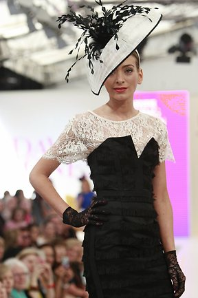 Black and White for Derby Day at MSFW 2012