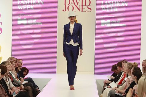 Bianca Spender indigo suit at MSFW 2012
