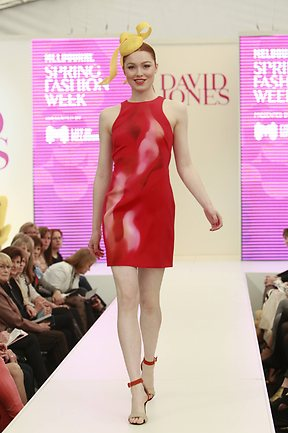 Dion Lee Dress at MSFW 2012