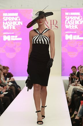 Carla Zampatti Black and White dress at MSFW 2012