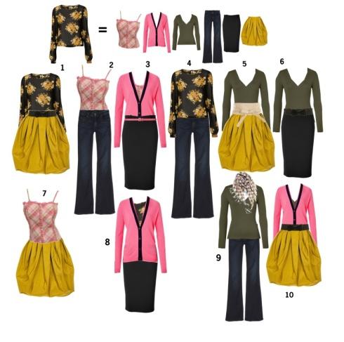 A colourful capsule wardrobe