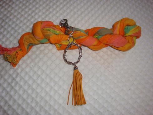 Silver and Tassle with scarf