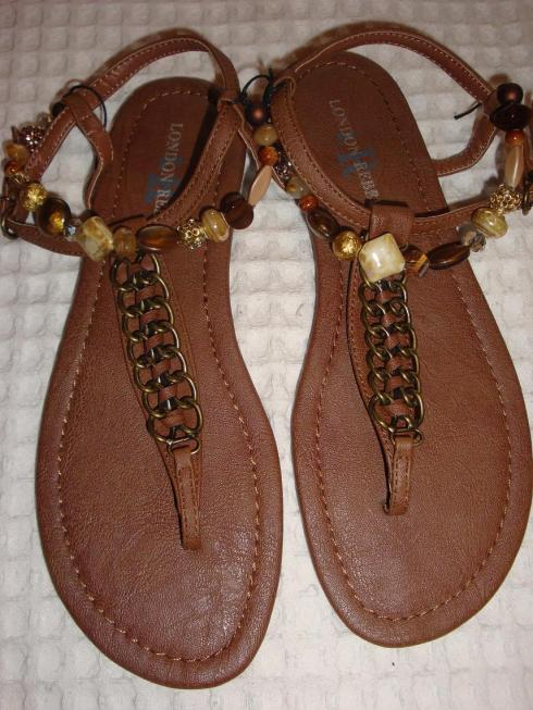 DIY Beaded Sandals - After