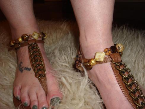 DIY Beaded Sandals - Ready for Holidays
