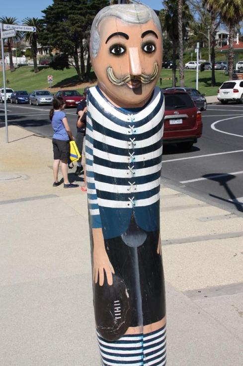 Geelong Cats Footballer Bollard