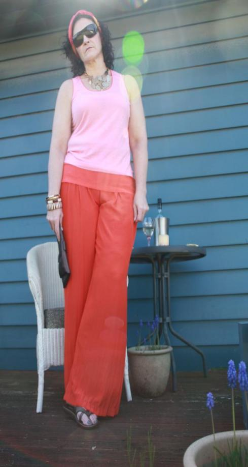 Orange Country Road Palazzo Pants Look 1