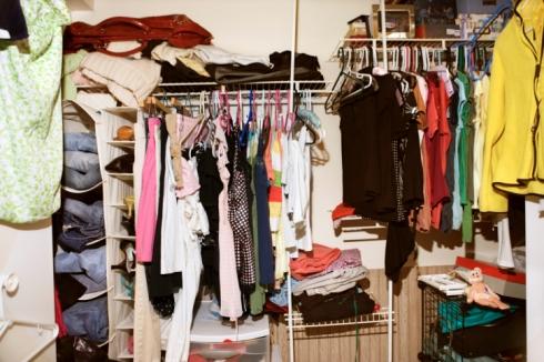 Unorganised Wardrobe