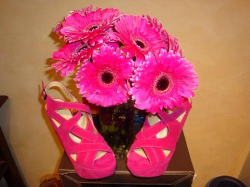 Hot Pink Wedges - Think Pink