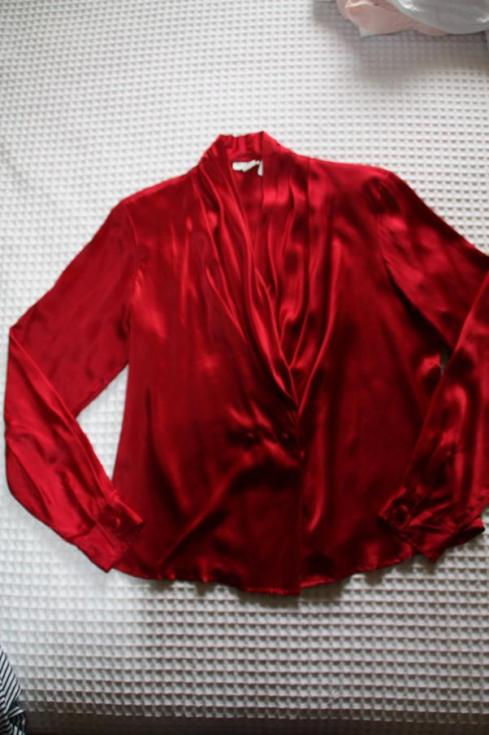 Oxblood silk top - Frugal Fun - Thrift Shopping