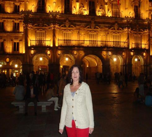 Nighttime in Plaza Mayor - Salamanca - October 2012