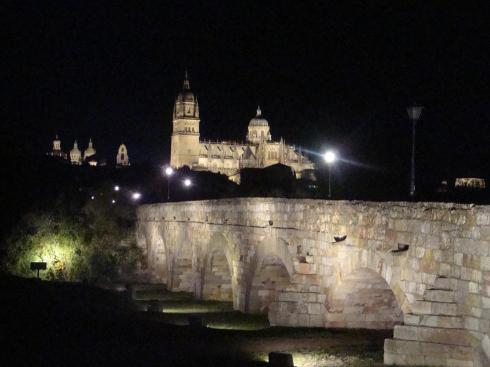 The Roman Bridge at Night - Salamanca - October 2012