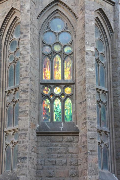 Stained Glass Window at Sagrada Familia - Barcelona 2012
