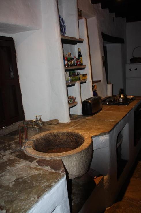 Old Stone Kitchen Sink at Vejer House - October 2012