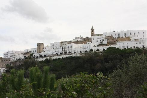 View up the hill to Vejer de la Frontera - October 2012