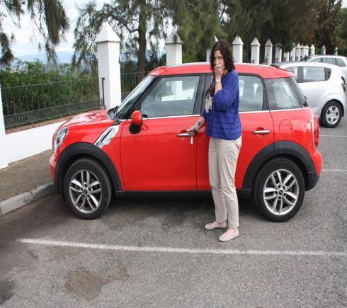 Preparing to drive the Mini - Spain 2012