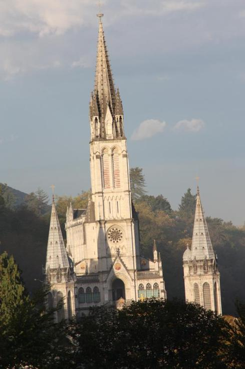 View of Lourdes from our Hotel - October 2012