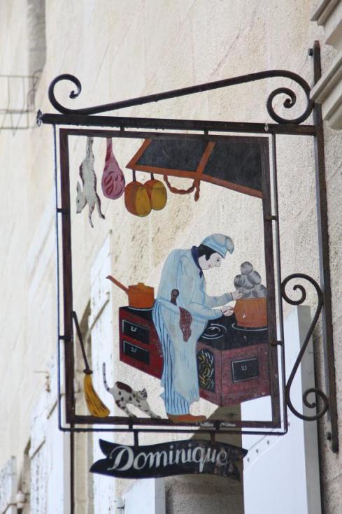 Shop Sign in St. Emilion - October 2012