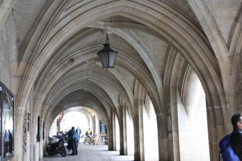 Stone covered archway in Libourne France - October 2012