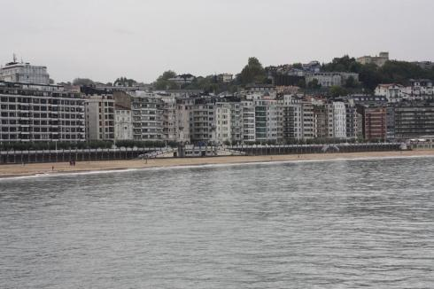 The beach at San Sebastian - October 2012