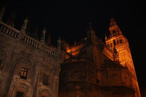 Seville Cathedral at Night - October 2012
