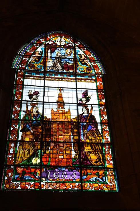 Stained Glass at St. Mary of the See - Seville Cathedral - October 2012