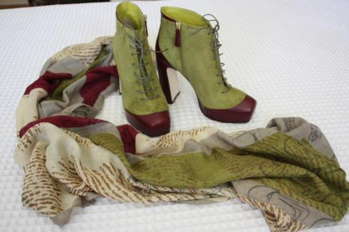 Pollini Boots and Scarf from Barcelona 2012