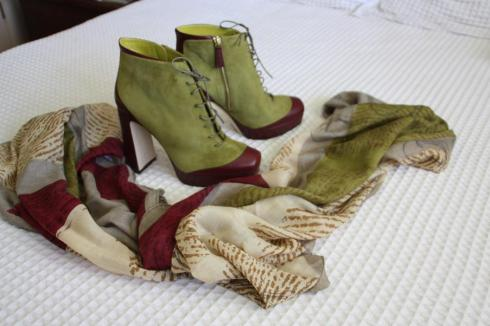 Pollini Ankle Boots and Scarf - Barcelona 2012