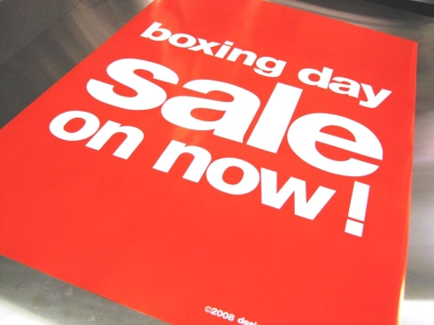 Boxing Day Sales!