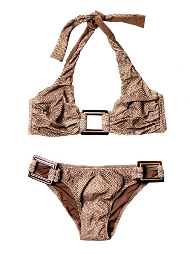 Metallic accent on this Melissa Odabash Bikini - Hot for the Holidays