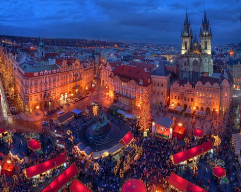 Prague - Lit for the Christmas Market