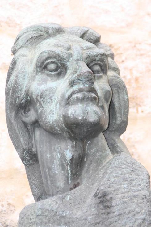 Bust of Juan De La Cosa - captain of the Santa Maria