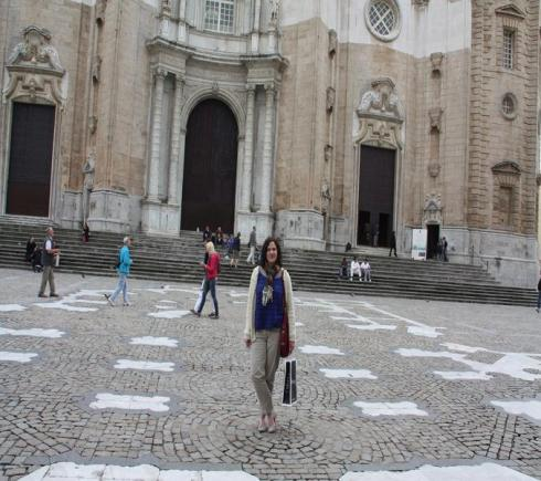 Me in front of the Cathedral at Cadiz - 2012