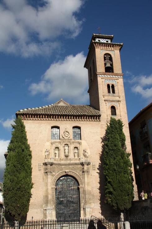 Church in old town Granada