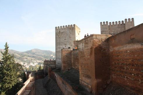 The external walls of the Alhambra - November 2012