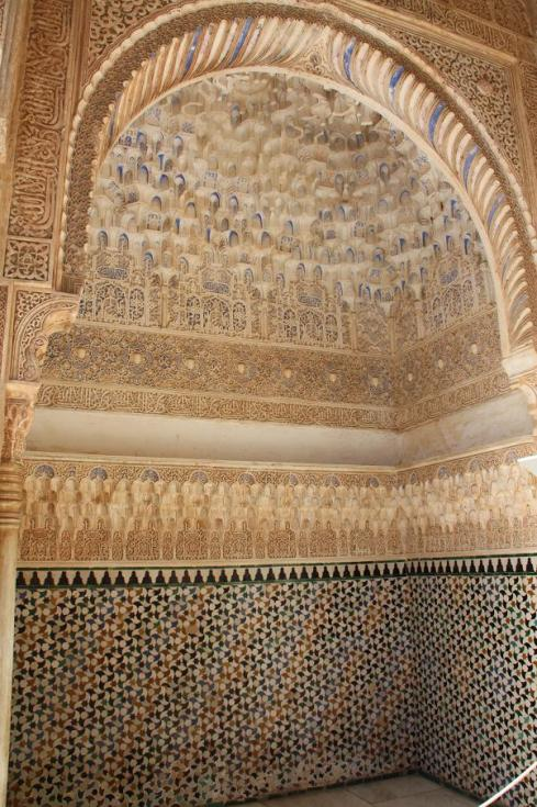 Plaster and Tile work at the Alhambra Palace.