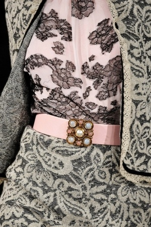 Pink, gray and lace, what's not to love?