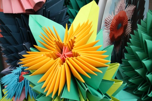 Origami floral display in Melbourne