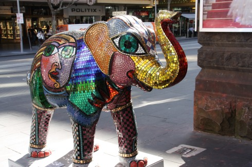 Glitter Elephant in Melbourne
