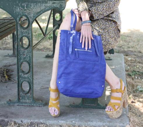 Matching Accessories - Indigo and Mustard