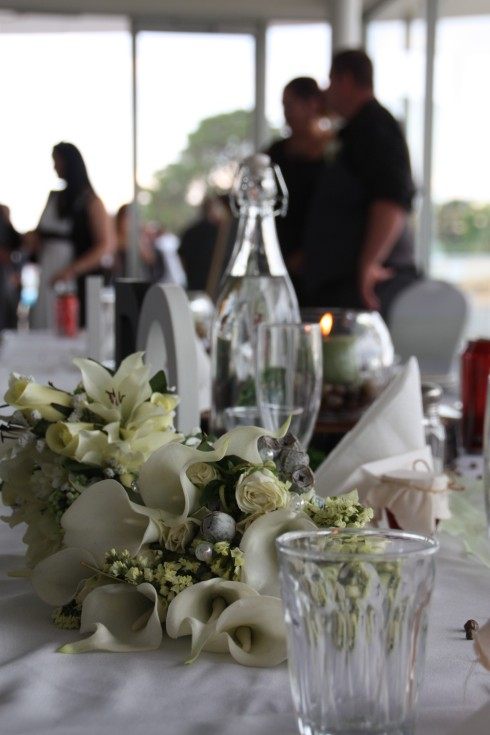 Bouquets on the Bridal table