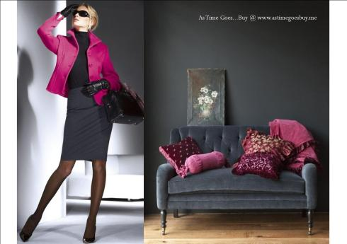 Looks to Love - Pink and Dark Grey