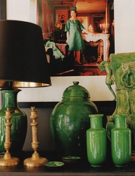 Emerald accents for the home