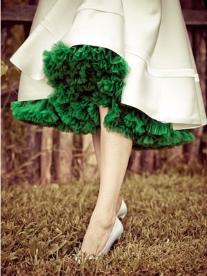 The lace is always greener on the under-side of the skirt