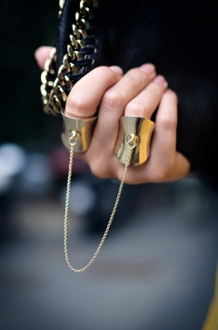 Black with Gold Rings