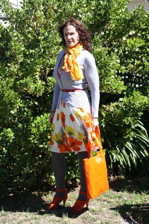 Summer dress goes winter