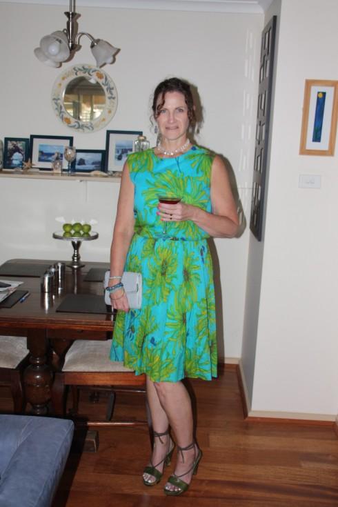 Bright Floral Vintage Dress