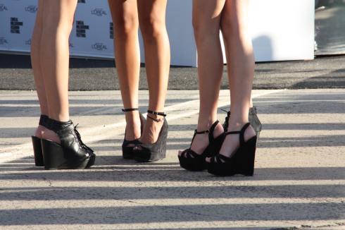 Black Wedge Shoes - Very Popular