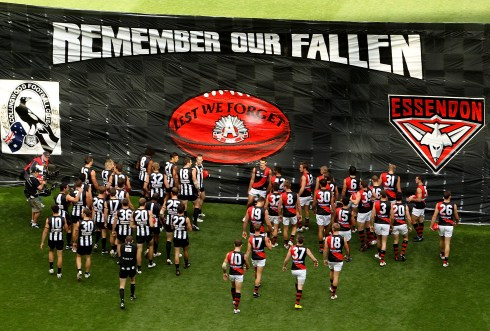 ANZAC Day Aussie Rules - Collingwood v. Essendon