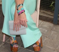 Turquoise and Pink Arm Candy