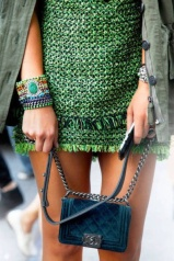 Green Tweed Skirt